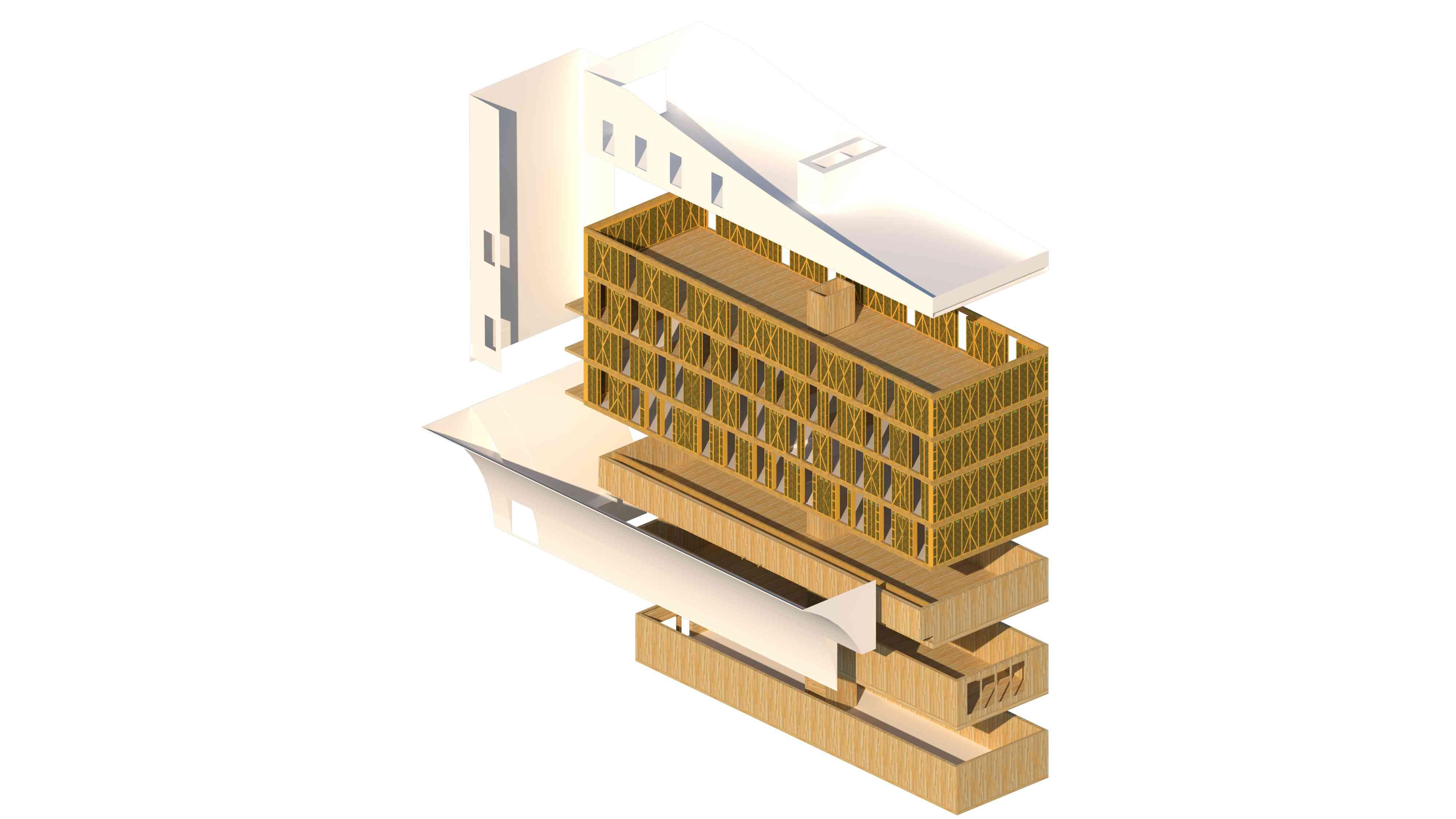 Timber frame of building