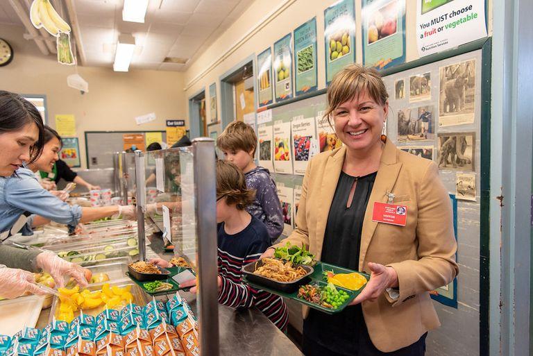 Los almuerzos escolares saludables son inútiles si no hay tiempo para comer