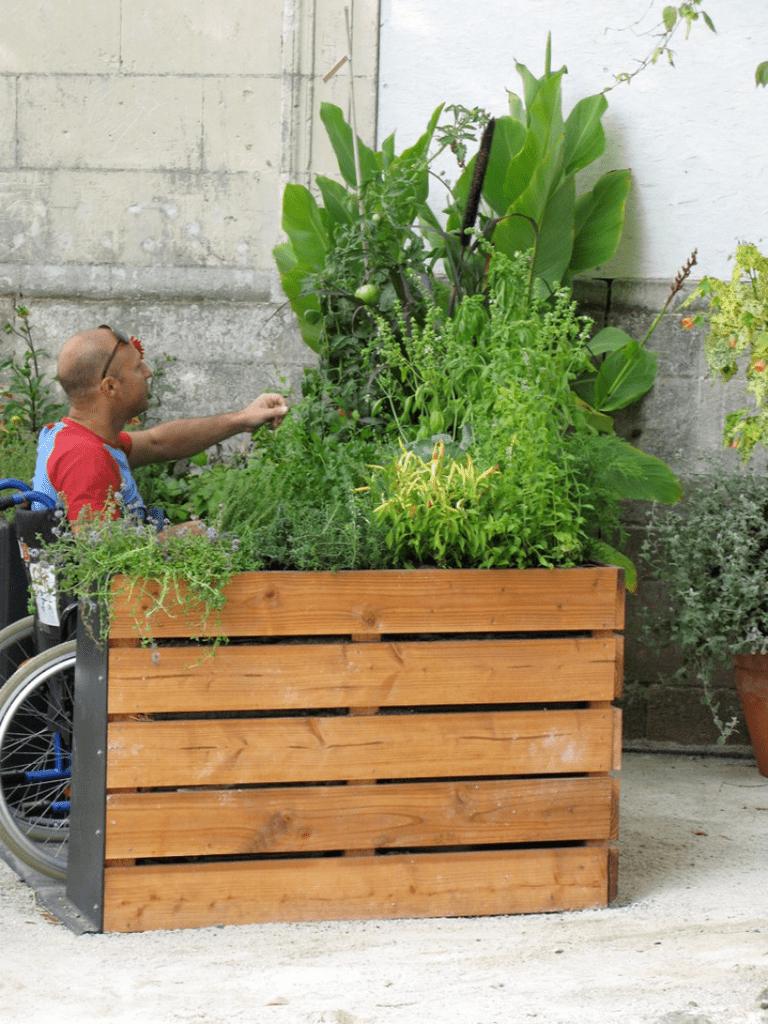 Terraform, wheelchair gardening in France