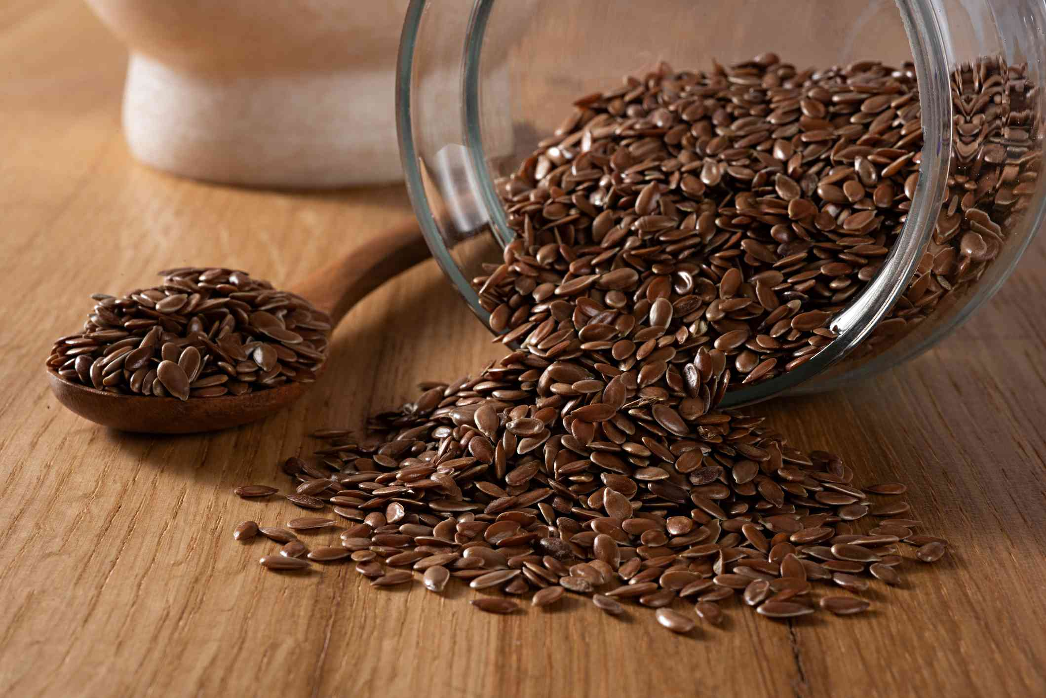 Flax seed up close.