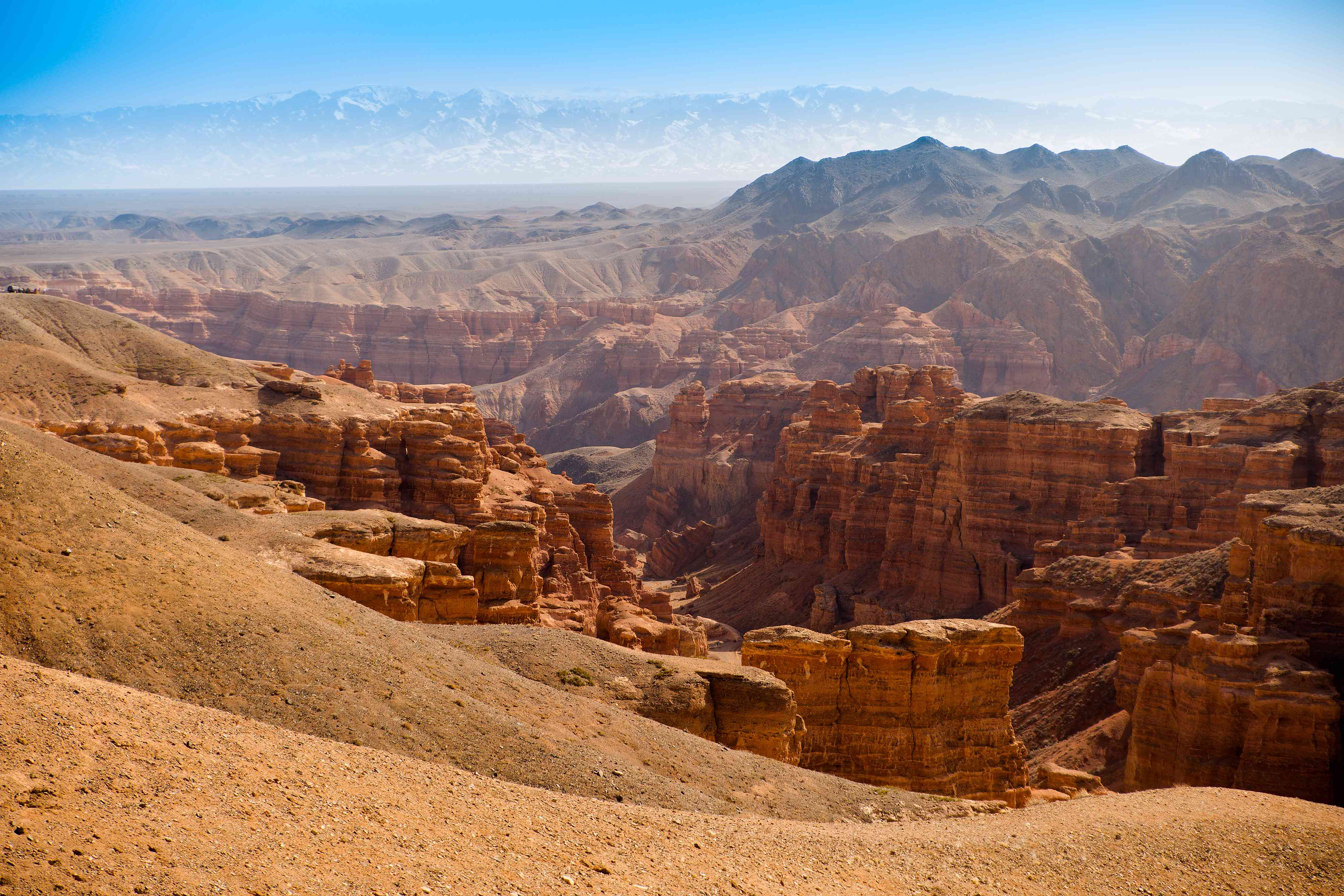 The stunning red vistas of Charyn Canyon in Kazakhstan