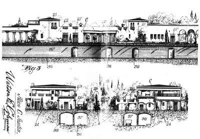 Houses with underground railway