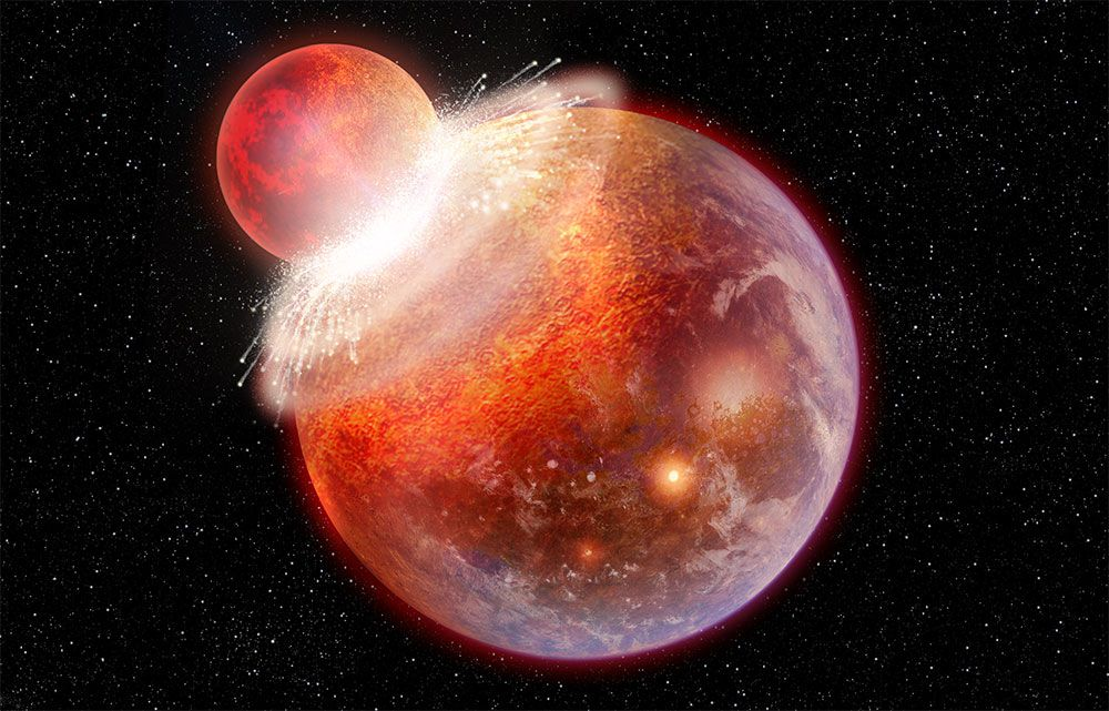 Planetary Collision Seeded Elements for Life on Earth, Study Says