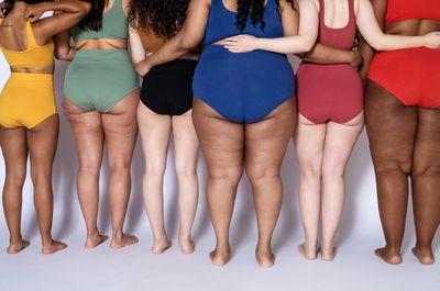 Women in colorful panties