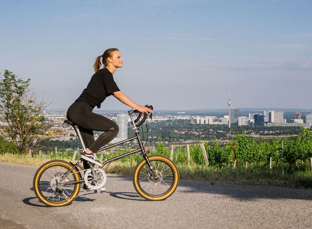 riding the vello Gravel bike