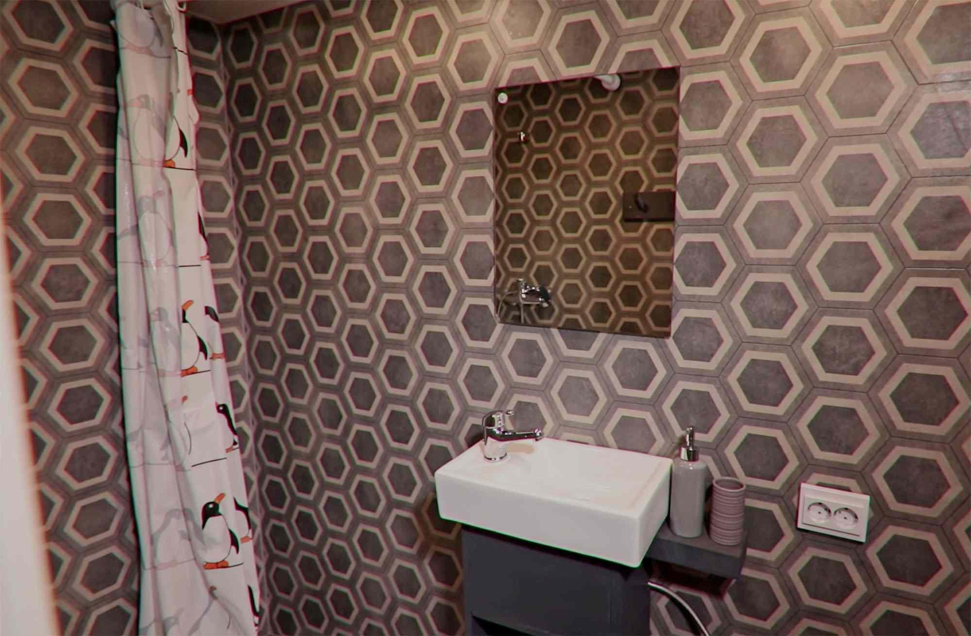 tiny village latvia bathroom
