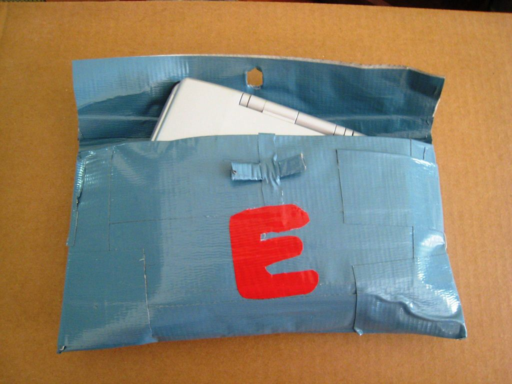 game or gadget pouch made of duct tape