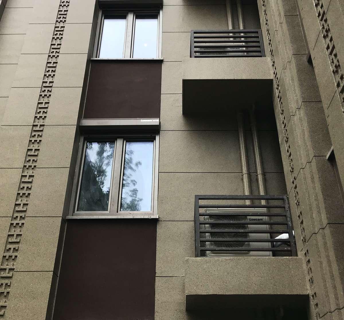 balconies with heat pumps