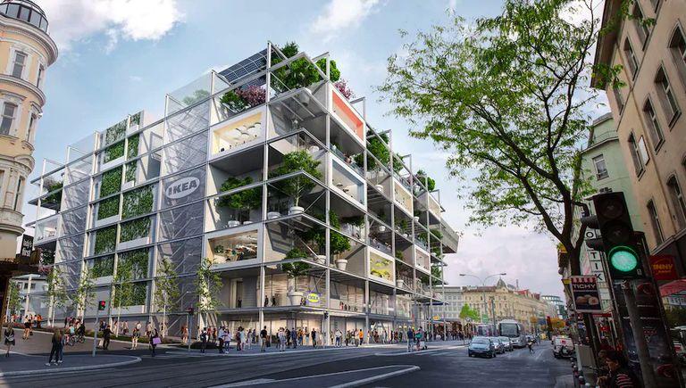 IKEA está construyendo una gran tienda nueva en Viena sin estacionamiento