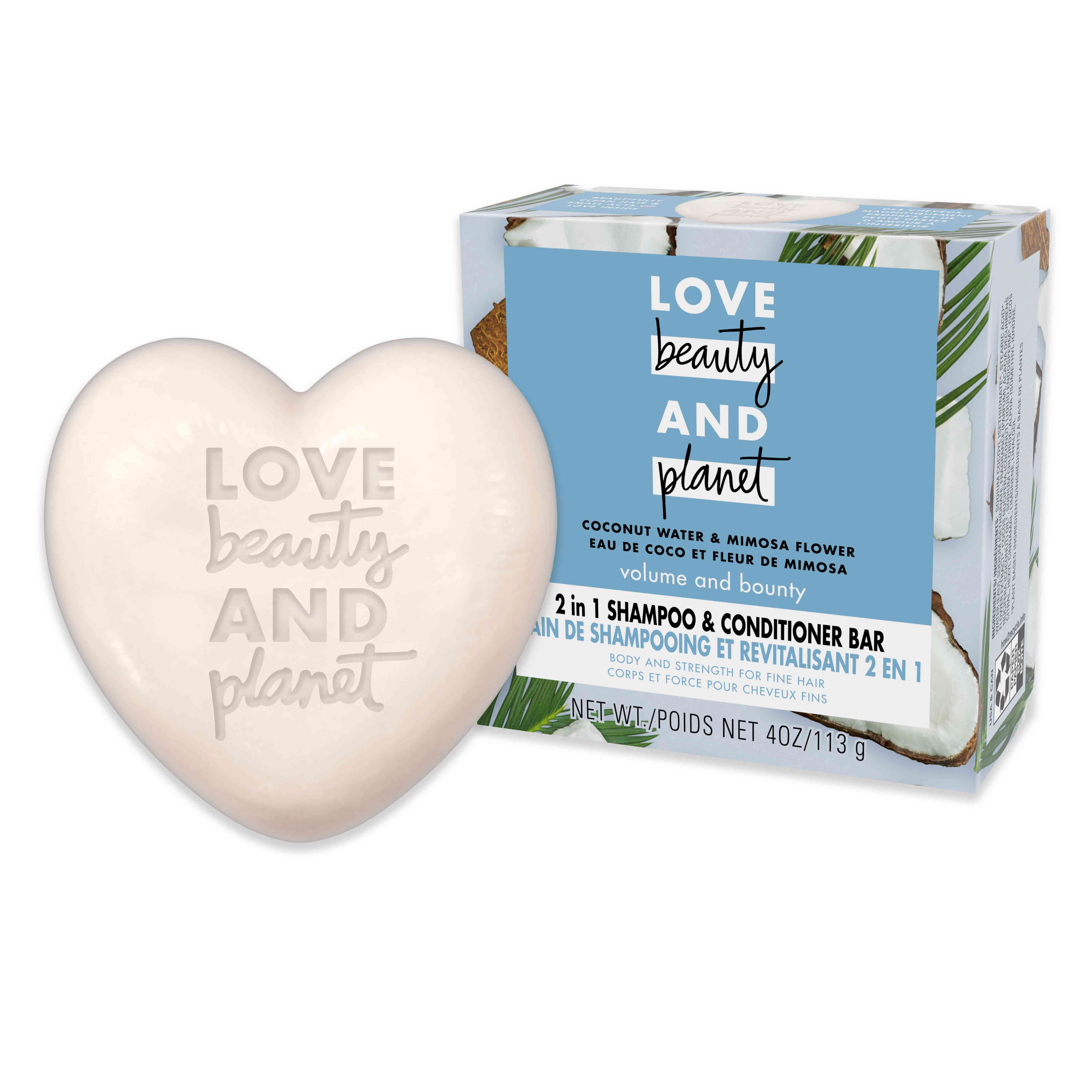 Love Beauty and Planet 2 in 1 Shampoo and Conditioner Bar