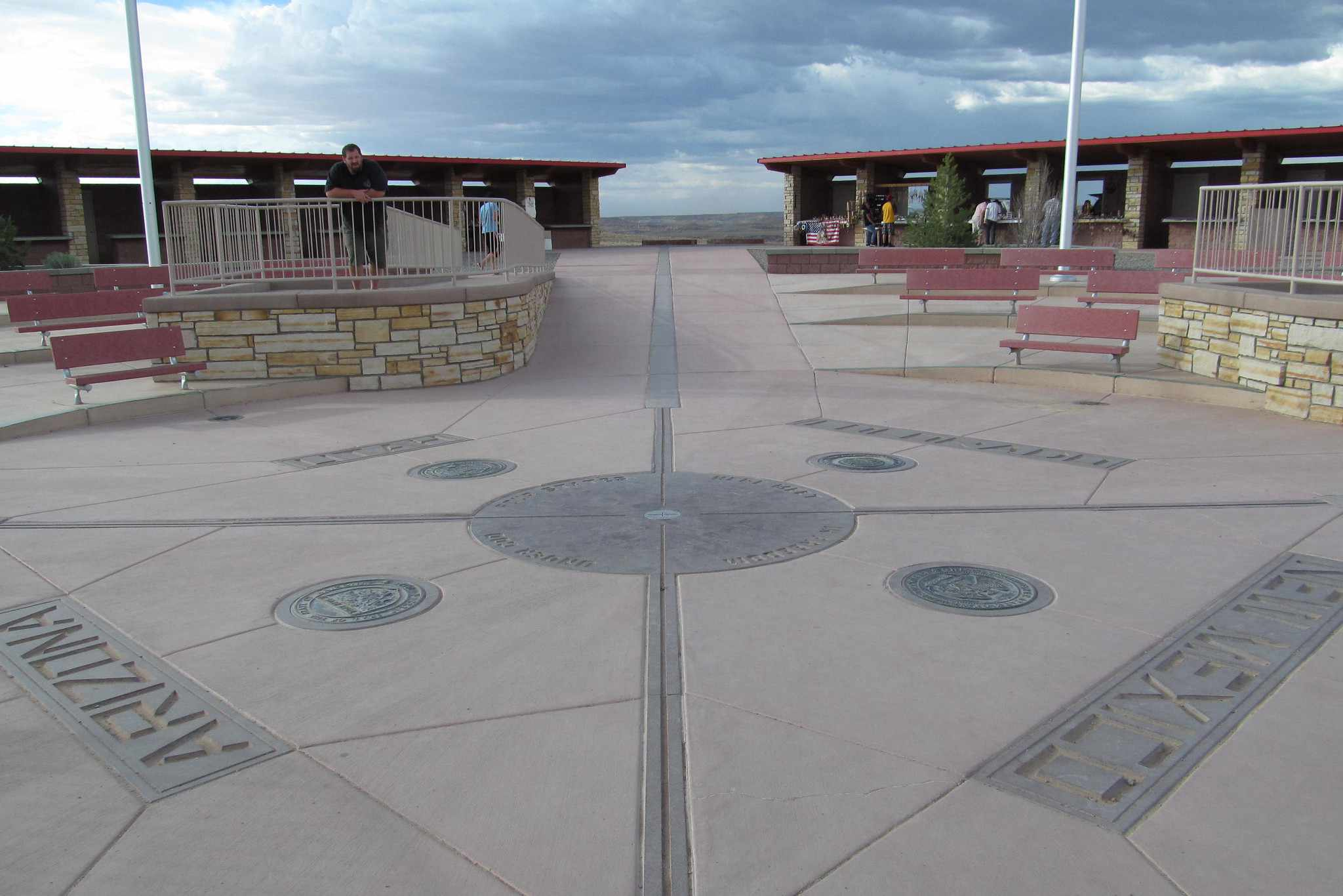 The ground split into four states at Four Corners Monument