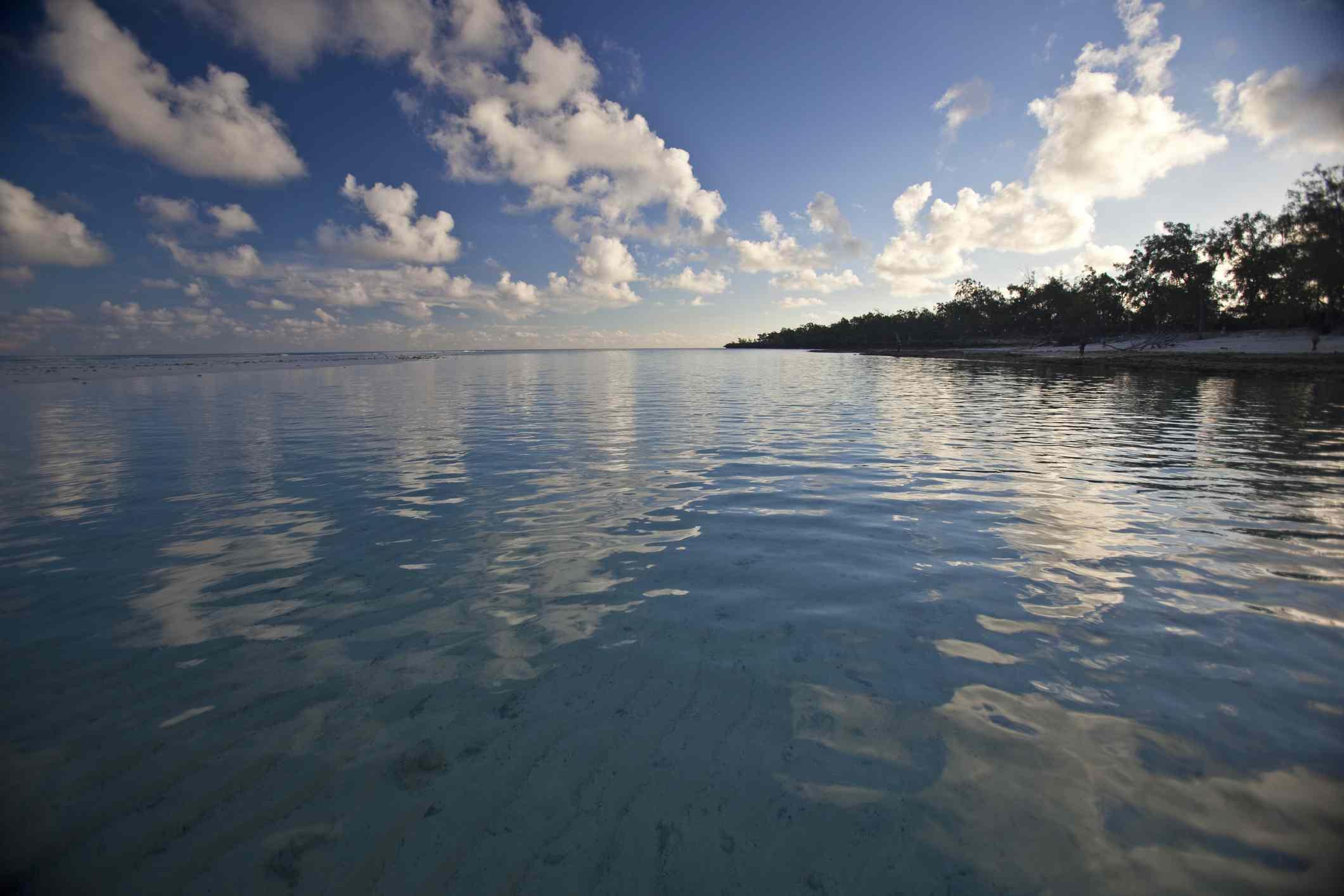 Calm waters off the coast of Aldabra Island