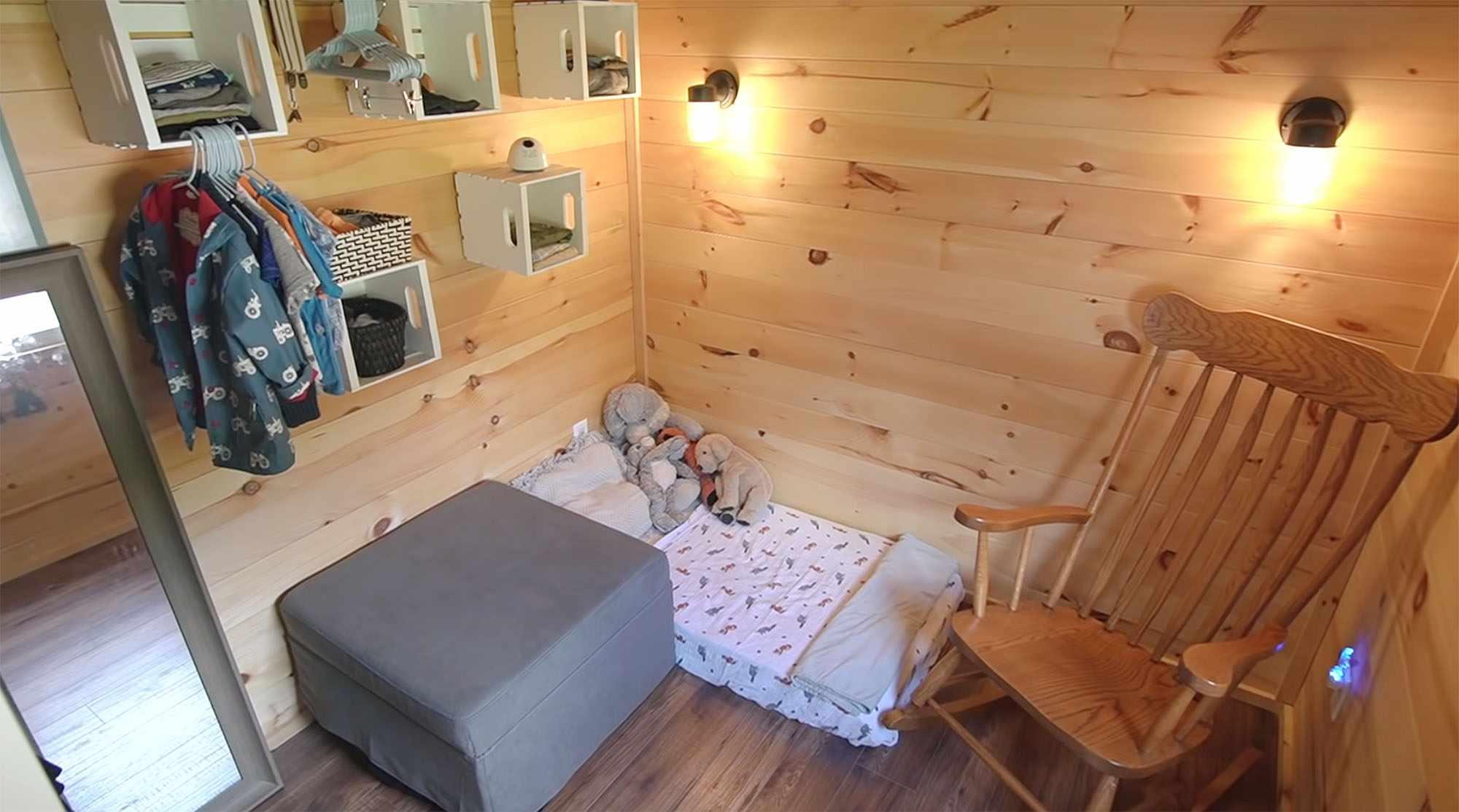 Giving Tree Family tiny house child's bedroom