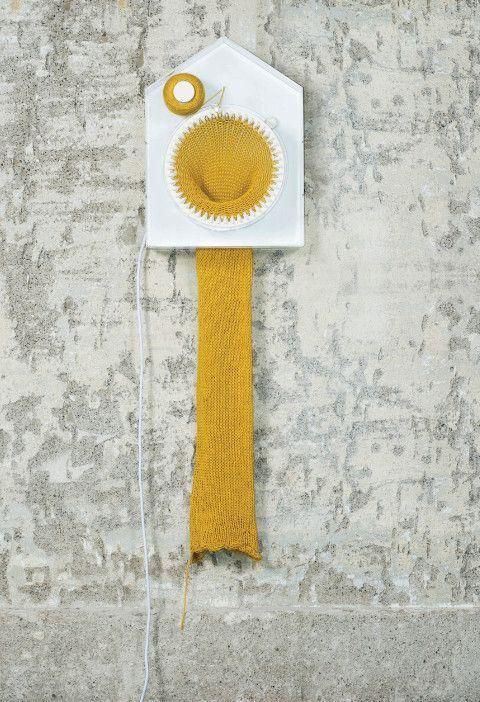 clock knits scarf