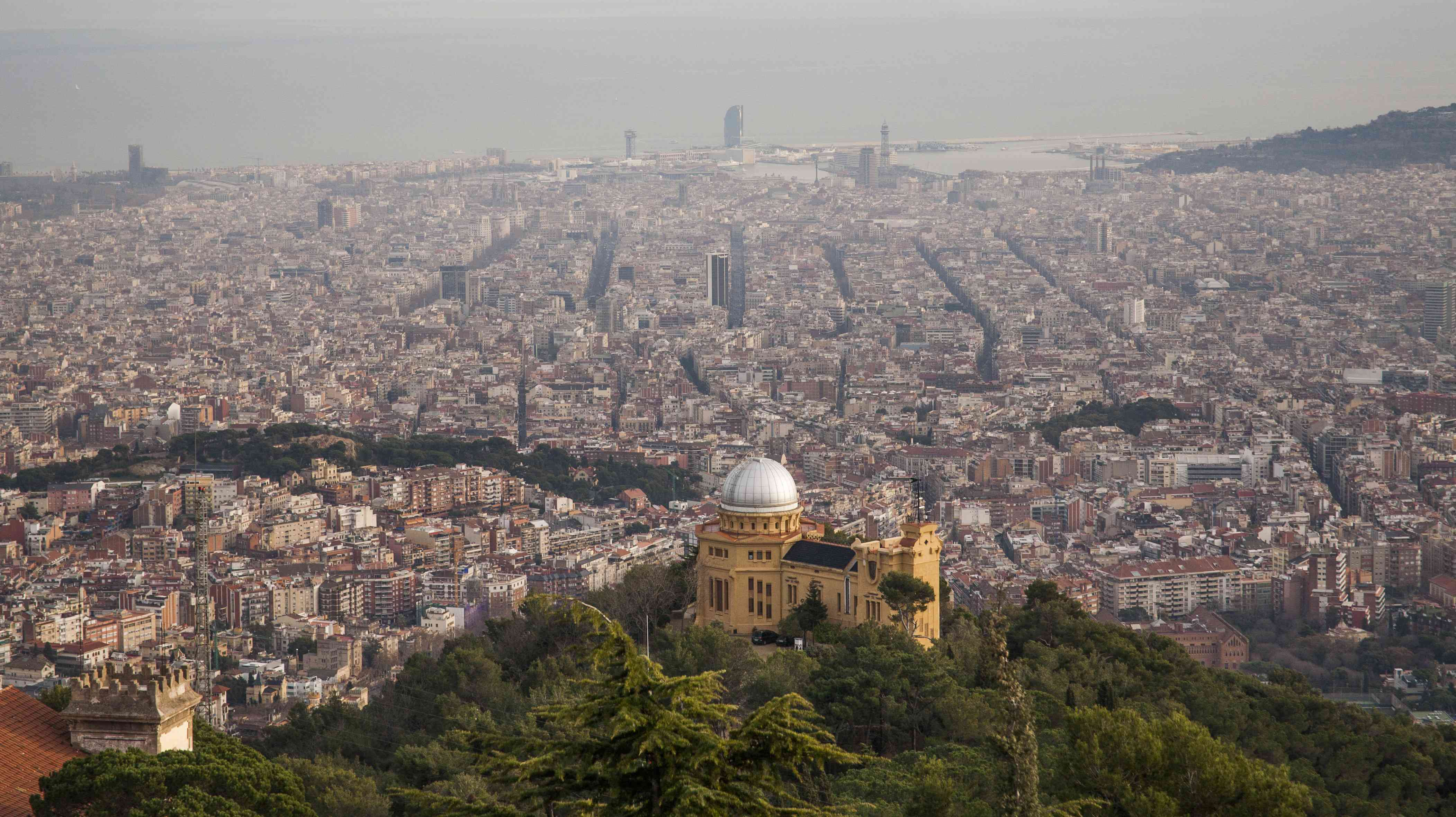 Fabra Observatory overlooking the city of Barcelona, Spain