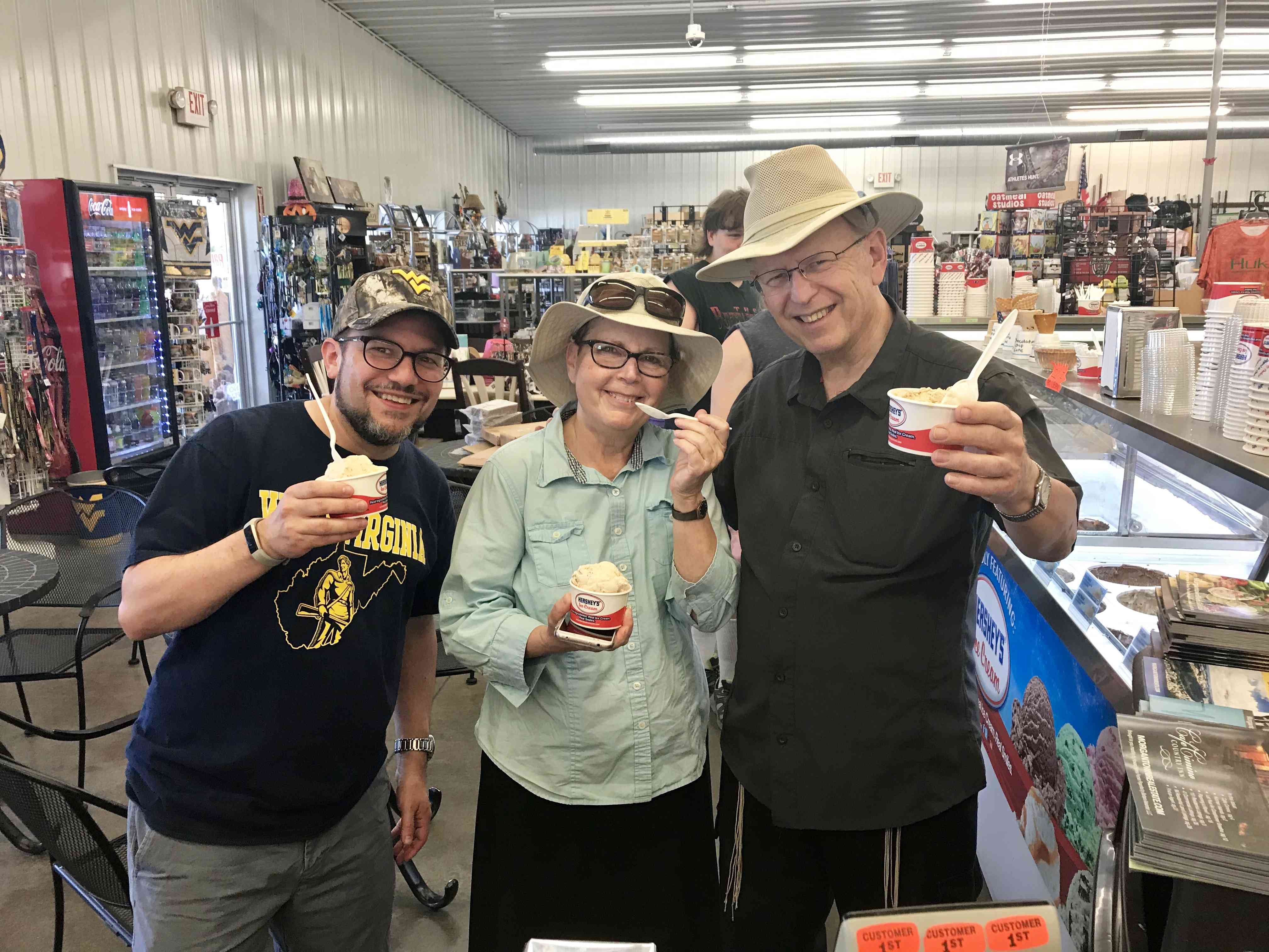 Anytime we have family visit from out of town, like my parents, the gun and ice cream shop is always a must-see.