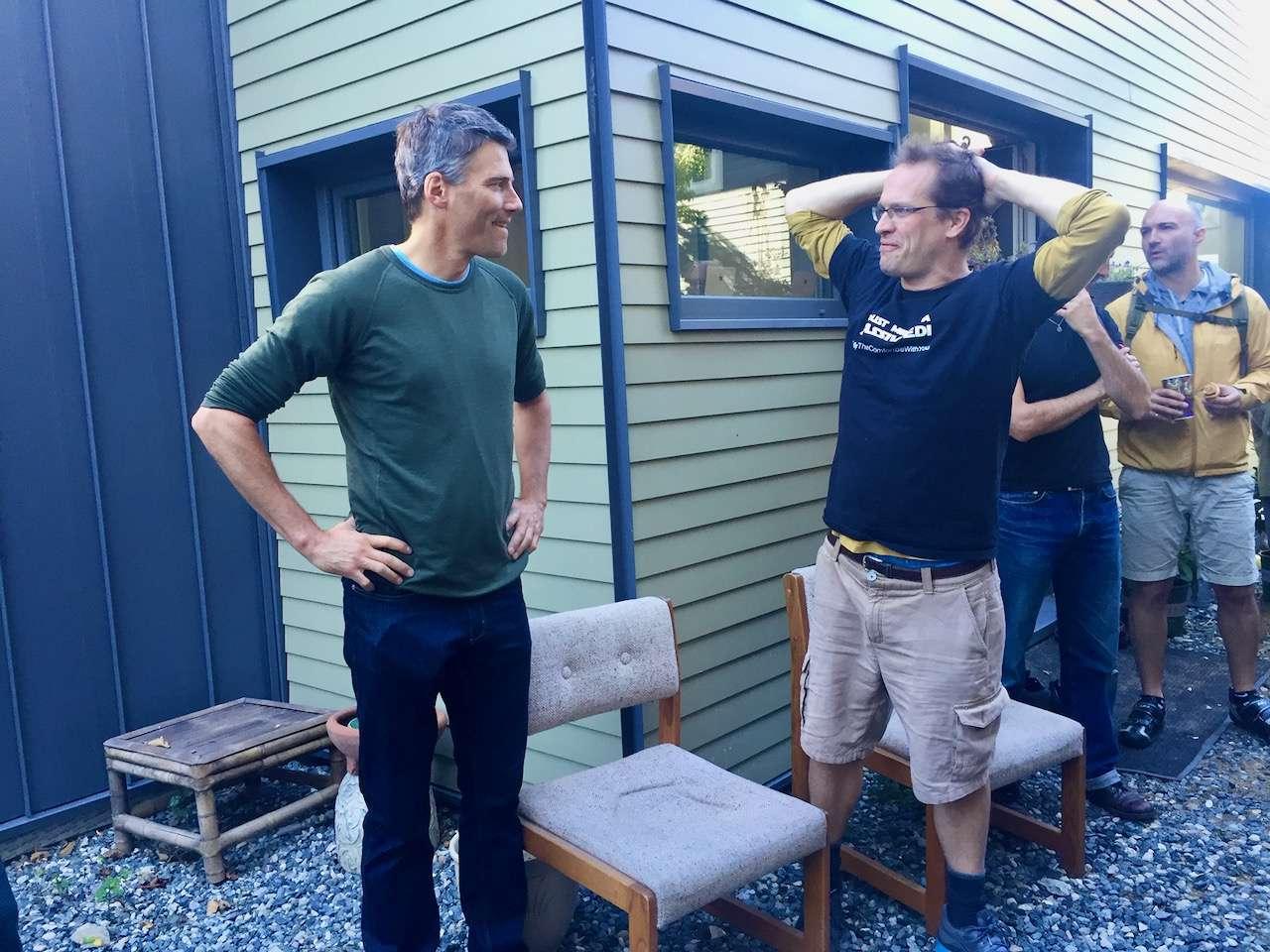 Gregor Robertson photo with Monte Paulsen