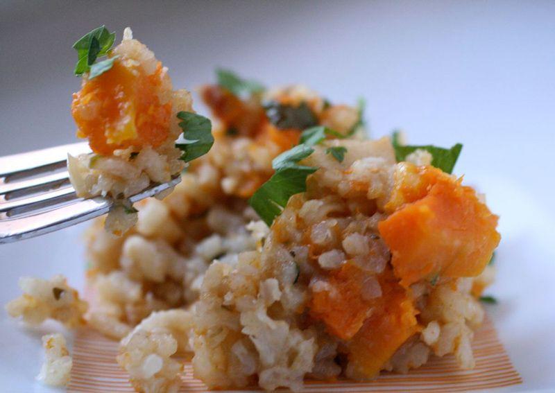 vegetarian squash risotto