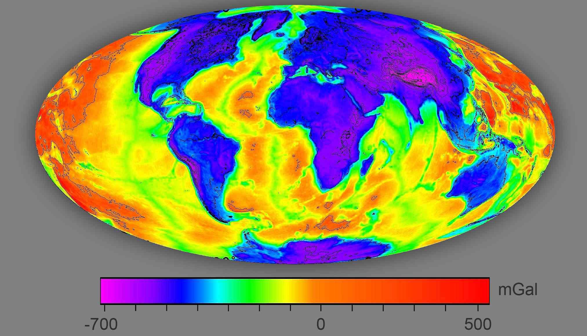 bouguer geothermal satellite map