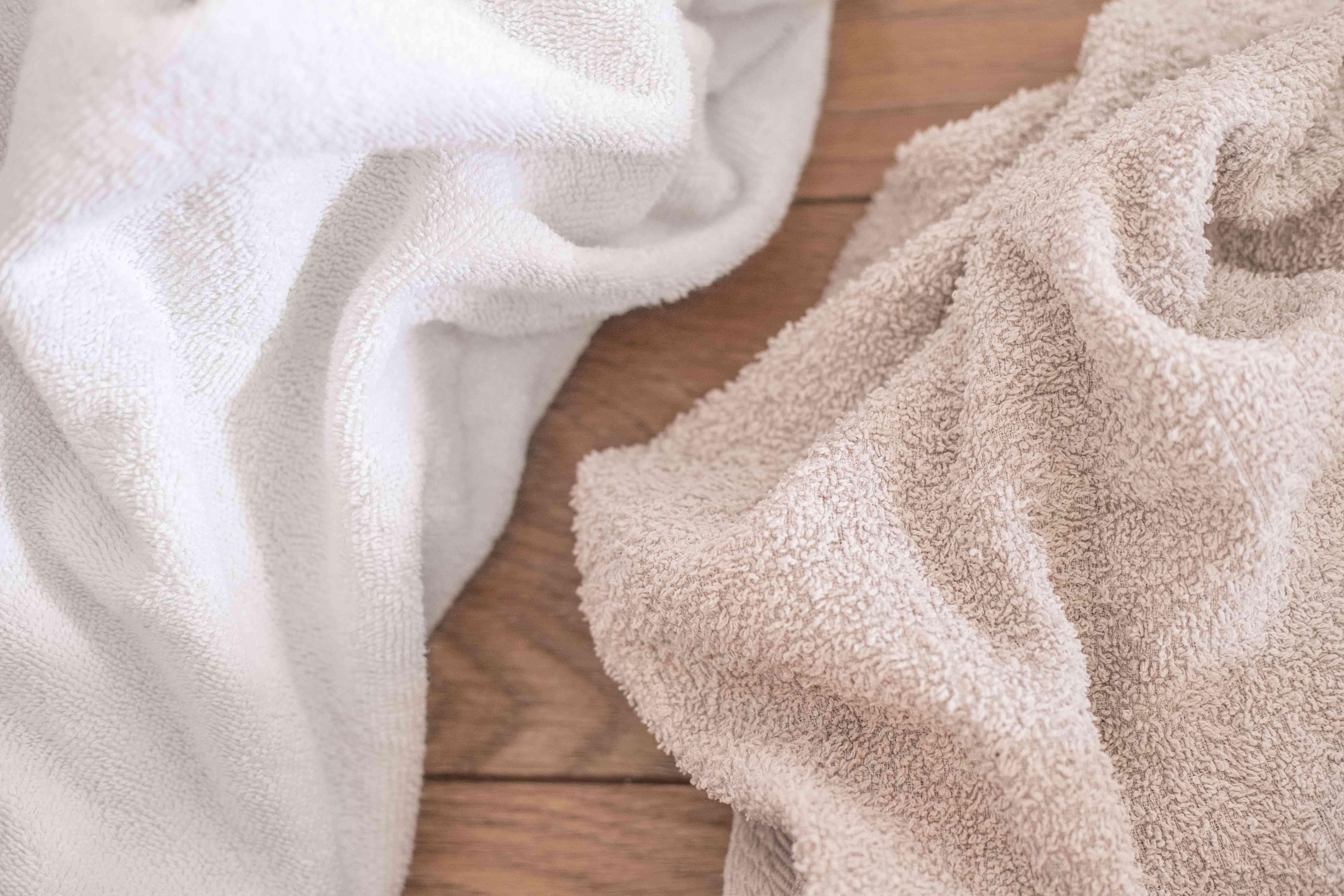 up close fluffy towels