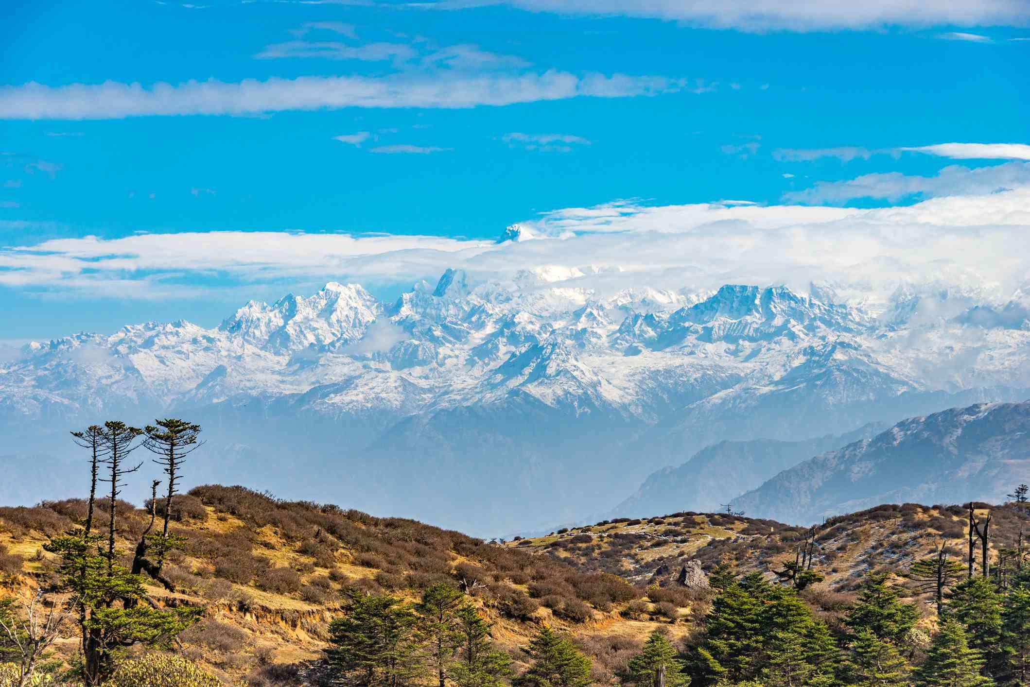 Mount Kanchenjunga from Sandakphu, West Bengal, India
