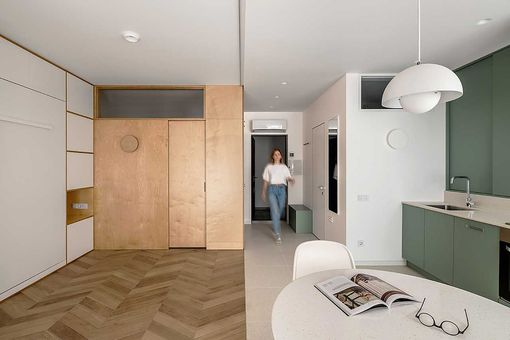 360 Studio apartment renovation by TAK Office interior