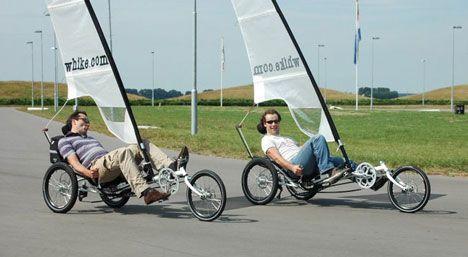 Whike sailing bikes photo