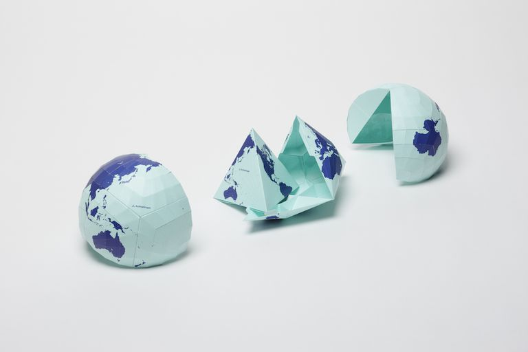 World Map Projection AuthaGraph faithfully represents all oceans, continents including the neglected Antarctica.