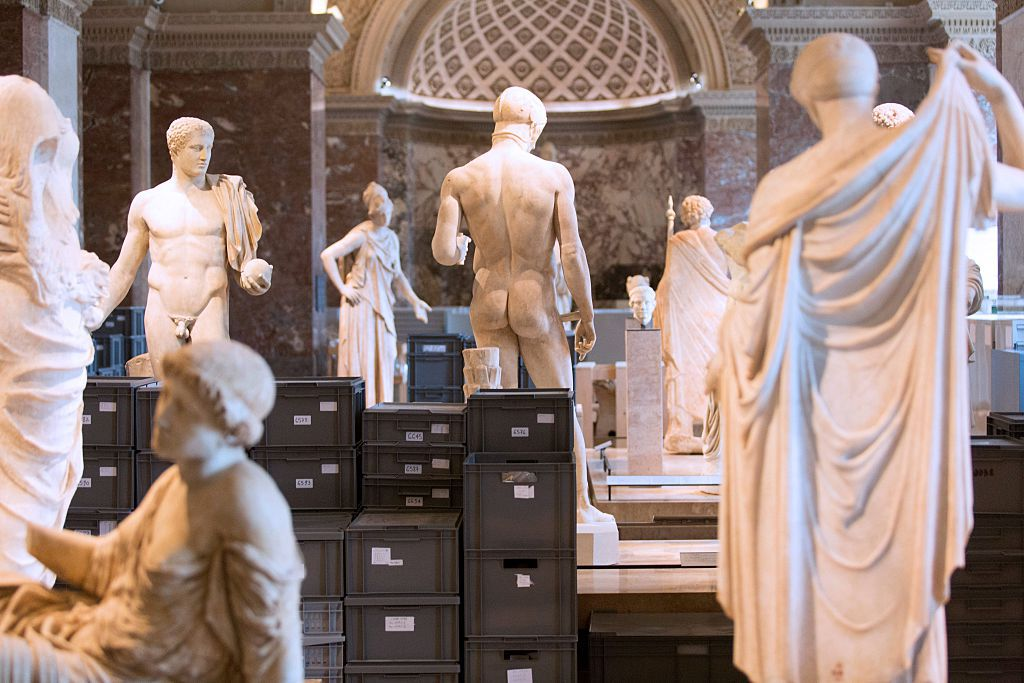 Artworks stored on the lower levels of the Louvre are being packed up and moved to higher ground as flooding in Paris worsens.