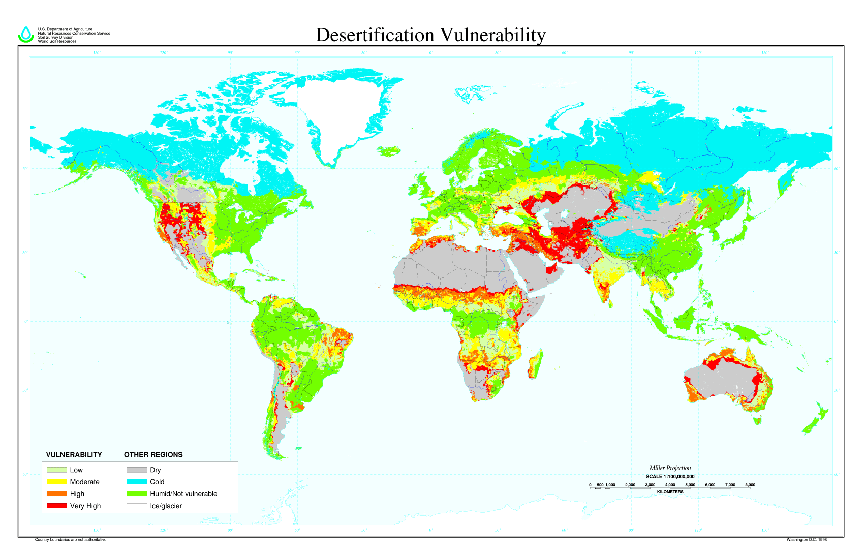 A global map of desertification