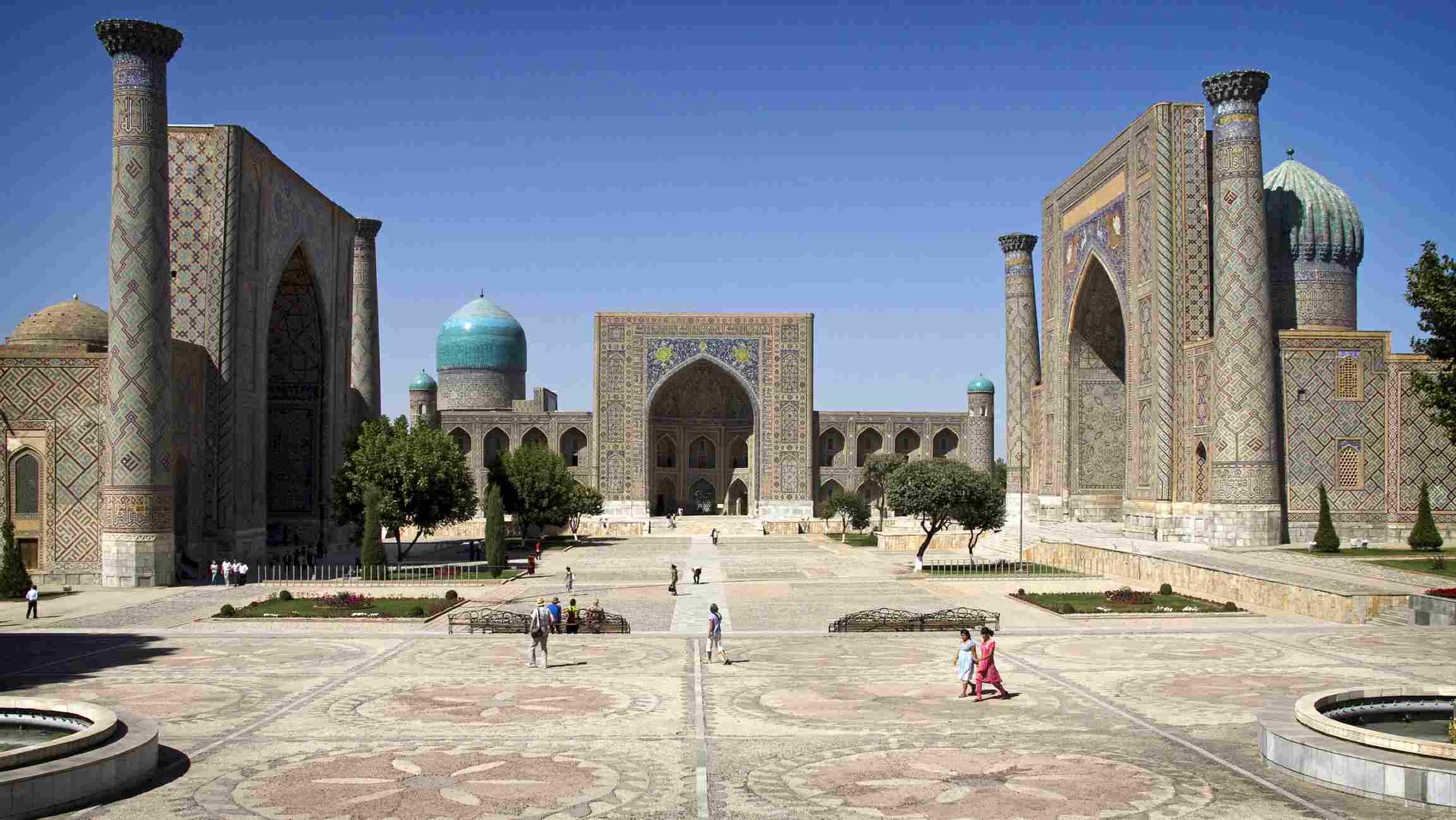 The three madrasahs of Registan Square