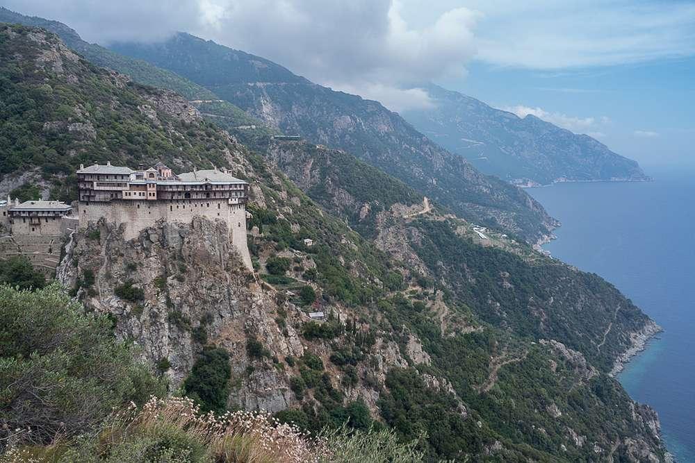 Mount Athos in northeastern Greece