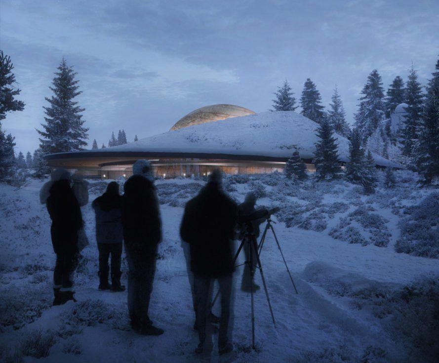 Solobservatoriet at dusk