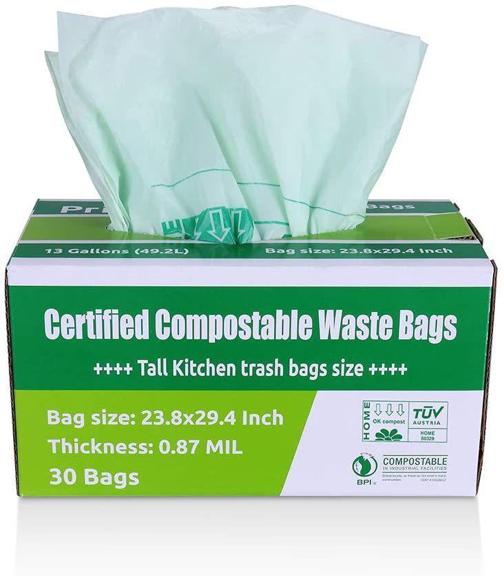 Primode 100% Compostable Trash Bags 13 Gallon