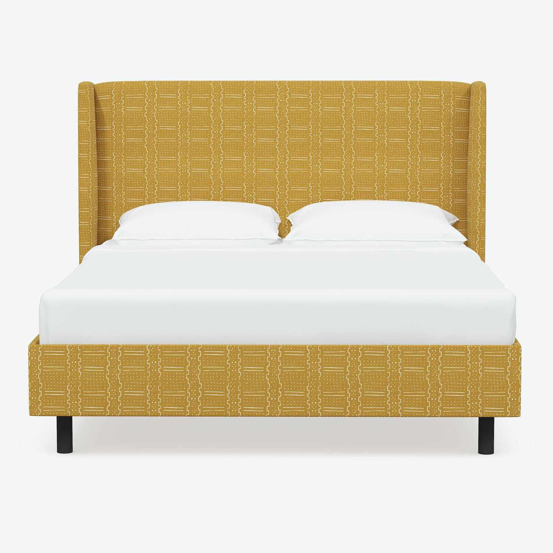 Abstrakt Lawrence Wingback Platform Bed