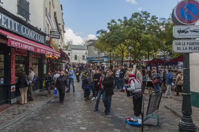 Pedestrian zone in Montmartre, Paris
