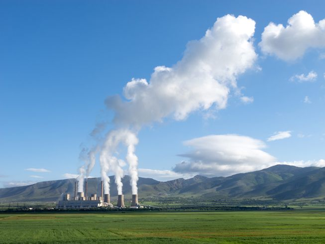 Coal-fired power plant in Greece