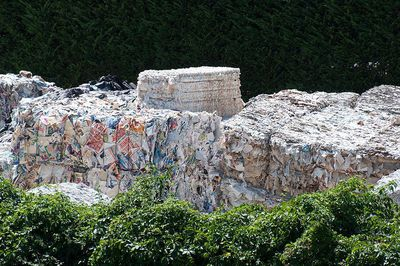 Used paper is collected for paper recycling in Ponte a Serraglio near Bagni di Lucca, Italy
