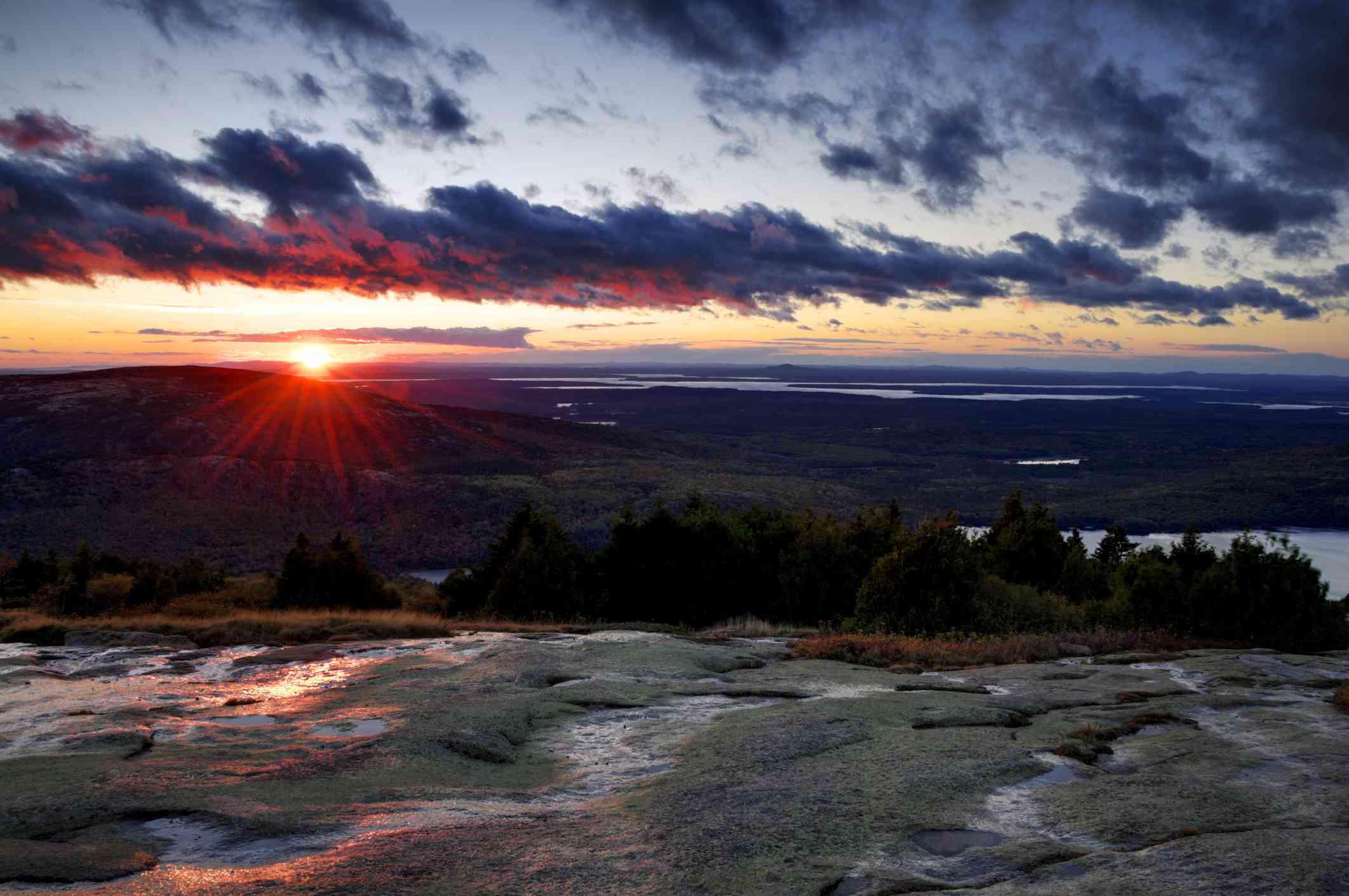 Sunrise over Cadillac Mountain, Acadia National Park
