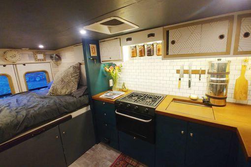 ambulance conversion Amanda Lemay interior