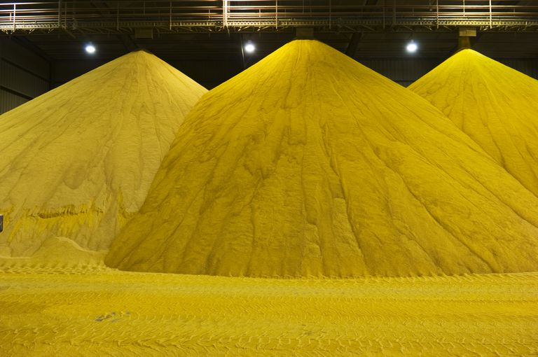 Ground Corn Used for Ethanol Production