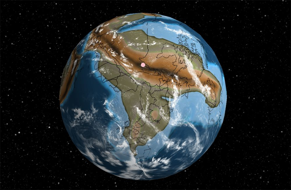 Ithaca, NY on the supercontinent Rodinia some 750 million years ago.