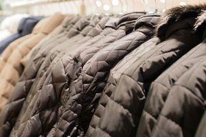Rack of winter coats