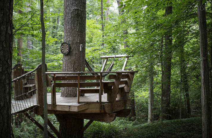 Peter and Katie Bahouth's Atlanta treehouse