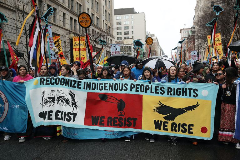 Standing Rock protesters in 2017