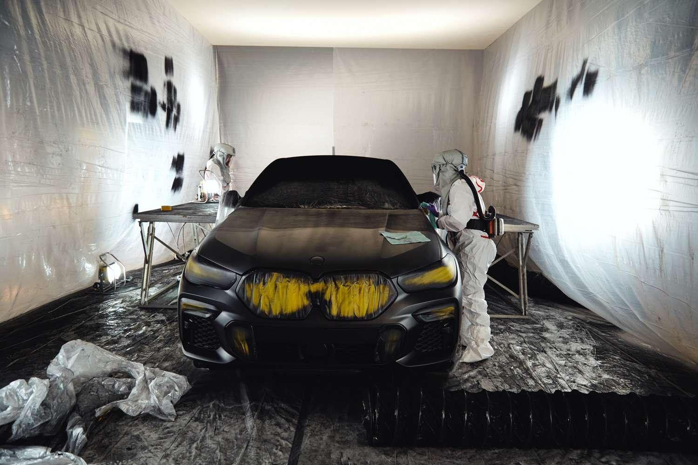 BMW in paint shop