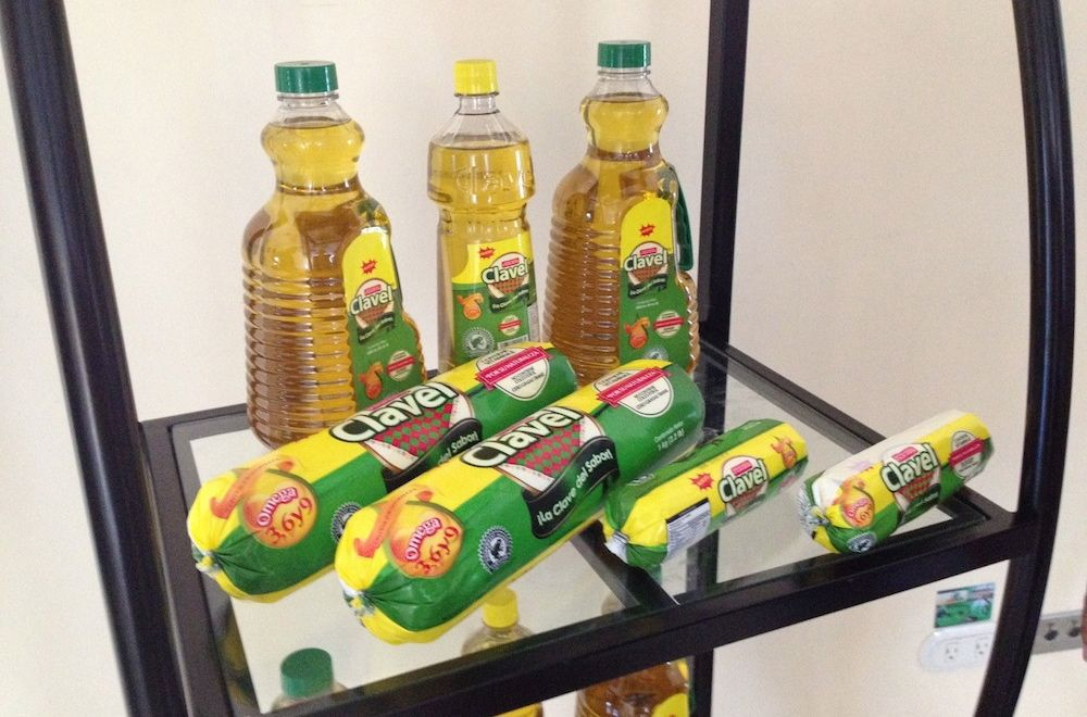 palm oil products with green frog seal