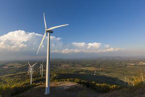 Wind turbines, International Appalachian Trail, Mars Hill, Aroostook County, Maine, USA