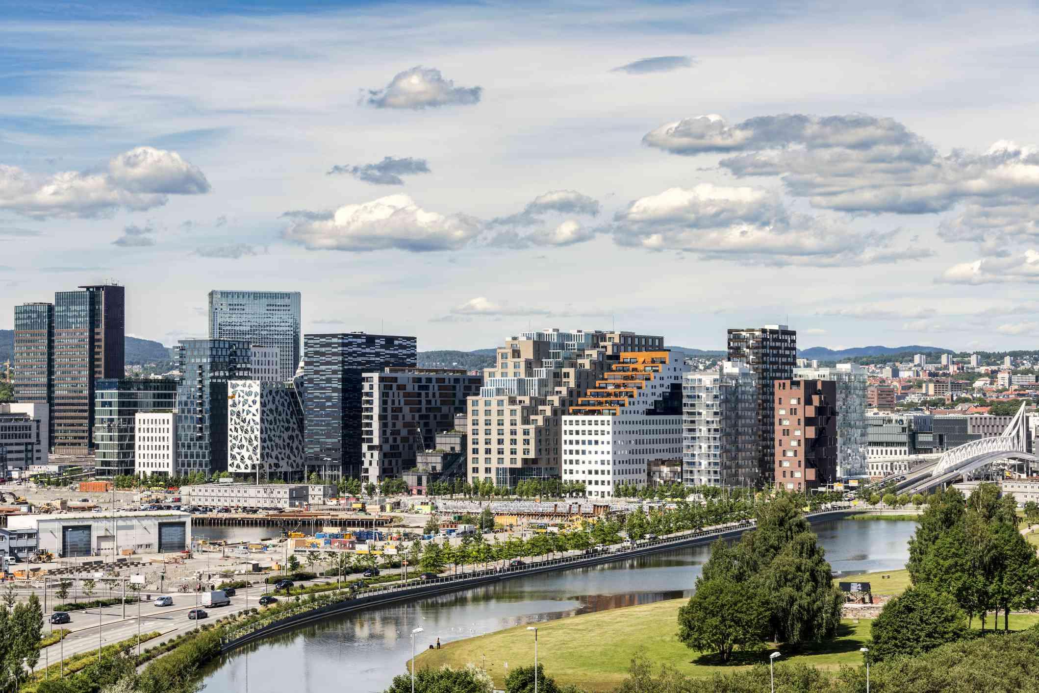 The Bjorvika district is Oslo, Norway