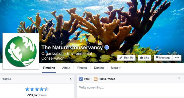 Nature Conservancy on Facebook